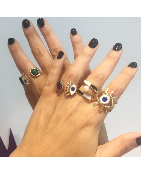 Giant Evil Eye Ring