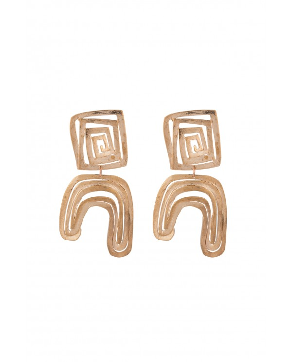 Air square pendant earrings