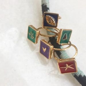 Anatolian Enamel Heart Ring