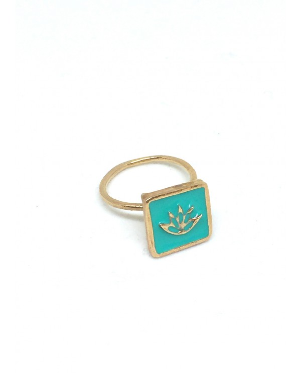 Anatolian Lotus Ring With Enamel