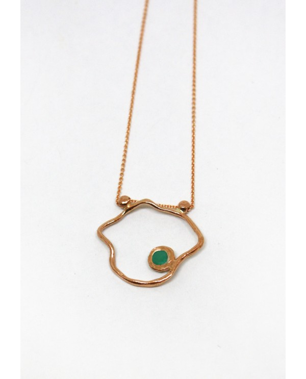 Josephine Emerald Gold Flower Necklace