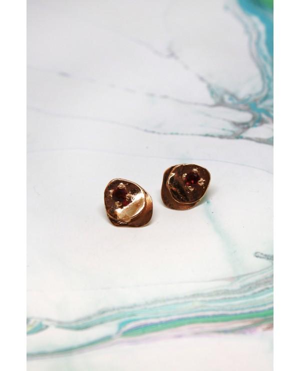 Papers Swarovski Bronze Earring