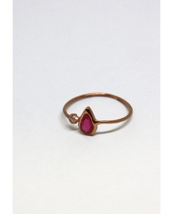 Josephine Drop Gold Ring