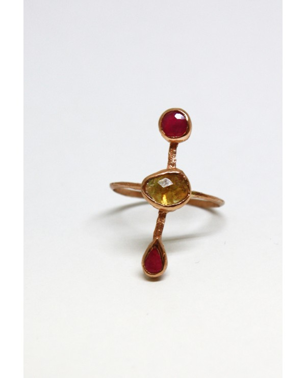 Josephine Triple Gold Ring