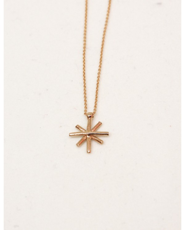 World Heritage Star Tattoo Gold Necklace