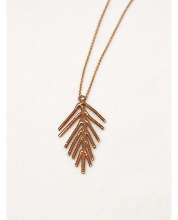 Anatolian Spike Gold Necklace
