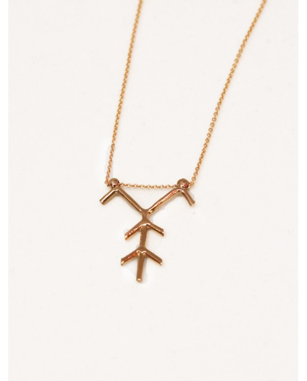 World Heritage Tree Motif Necklace-Gold