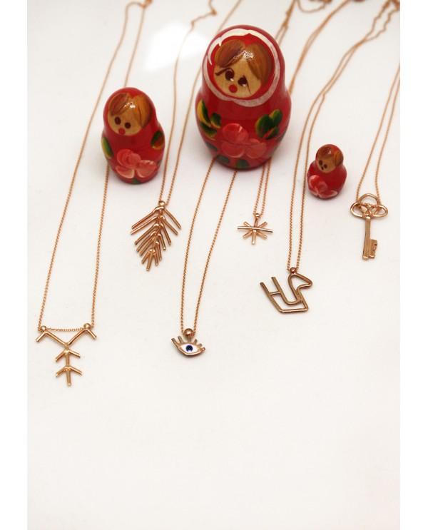 Tinny Evil Eye Gold Necklace