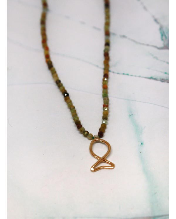 Fish Granat Necklace