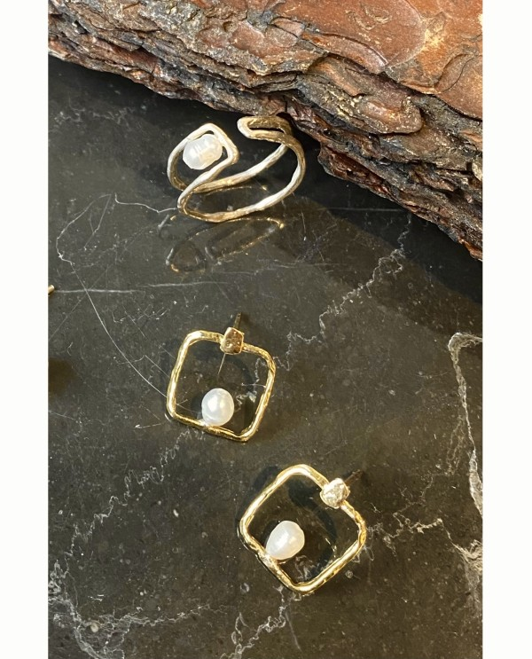 Square Mother  Earrings