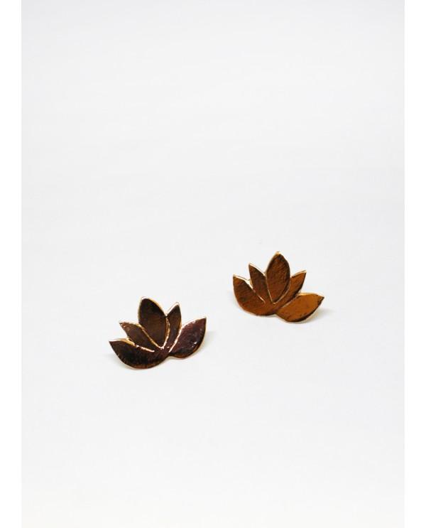 Lotus Bronz Küpe