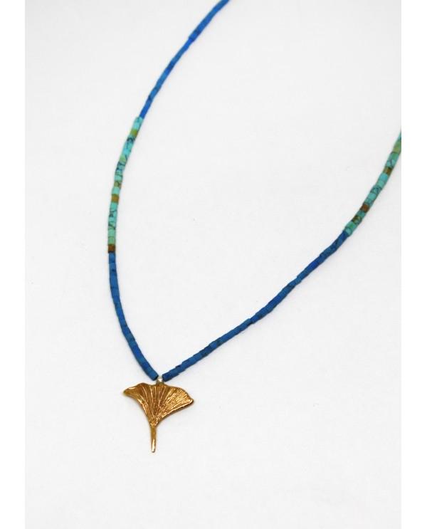 Botanic- Ginkgo Biloba Beaded Necklace