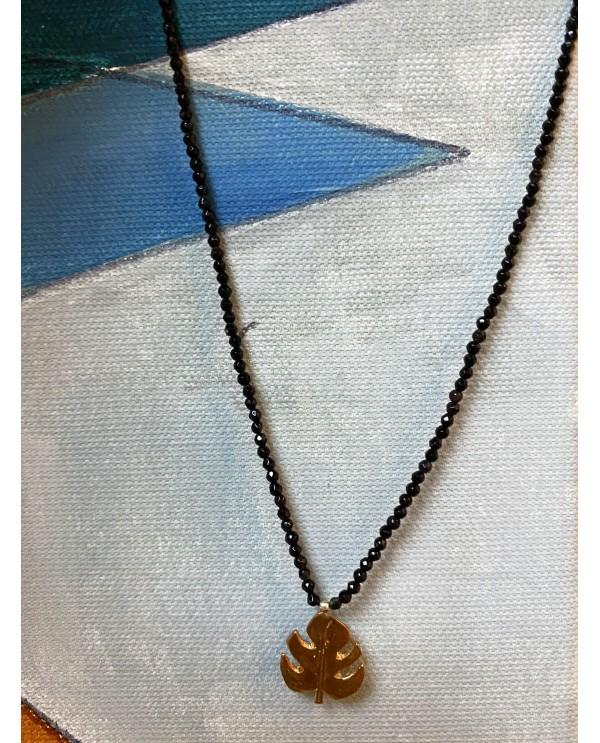 Botanic-Monsera Necklace