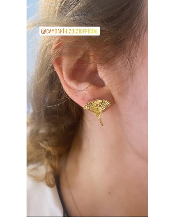 Botanic- Ginkgo Biloba Earring