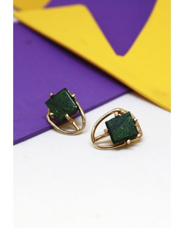 Byzantine Square Earrings