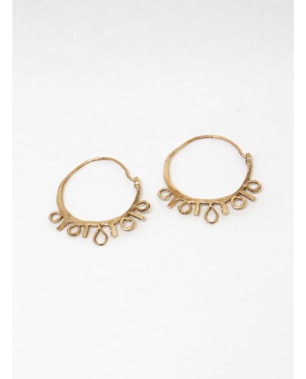 Byzantine Big Hoop Earrings