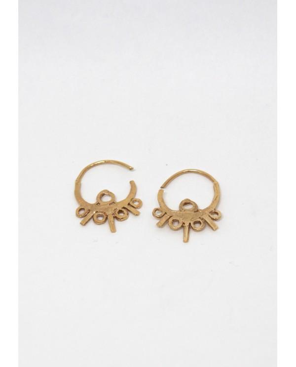Byzantine Trio Hoop Earrings