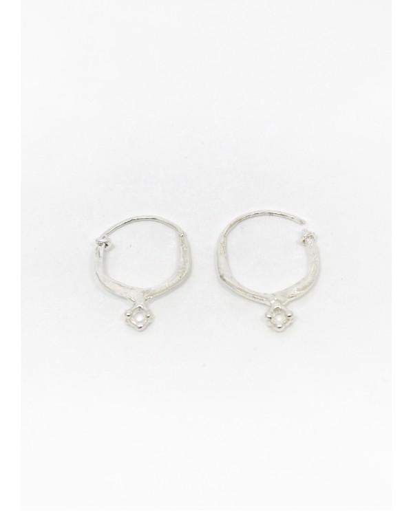 Byzantine Mono Hoop Earrings