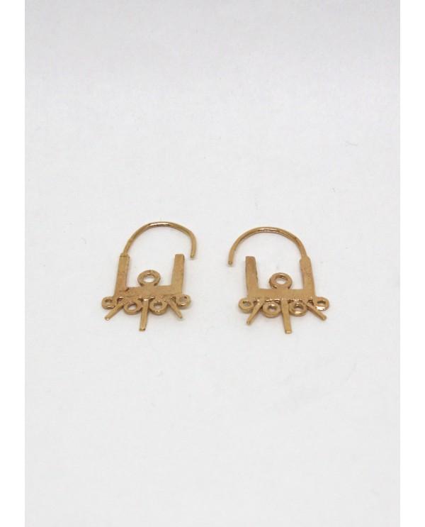 Byzantine Trio Square Hoop Earrings