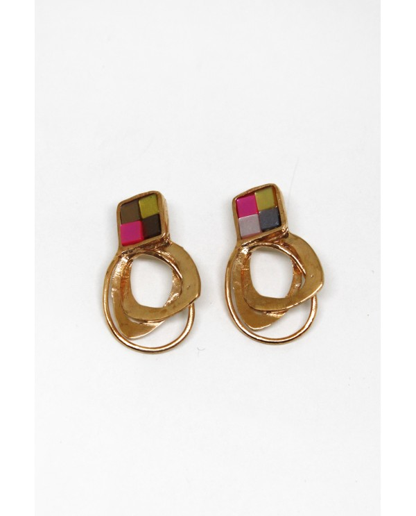 Byzantine Small  Mosaic Earrings