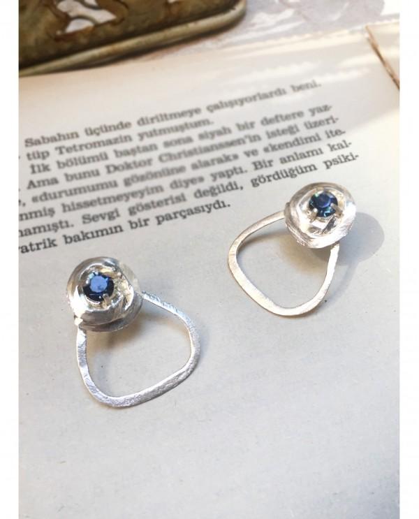 Swarovski Rose Earrings-Silver