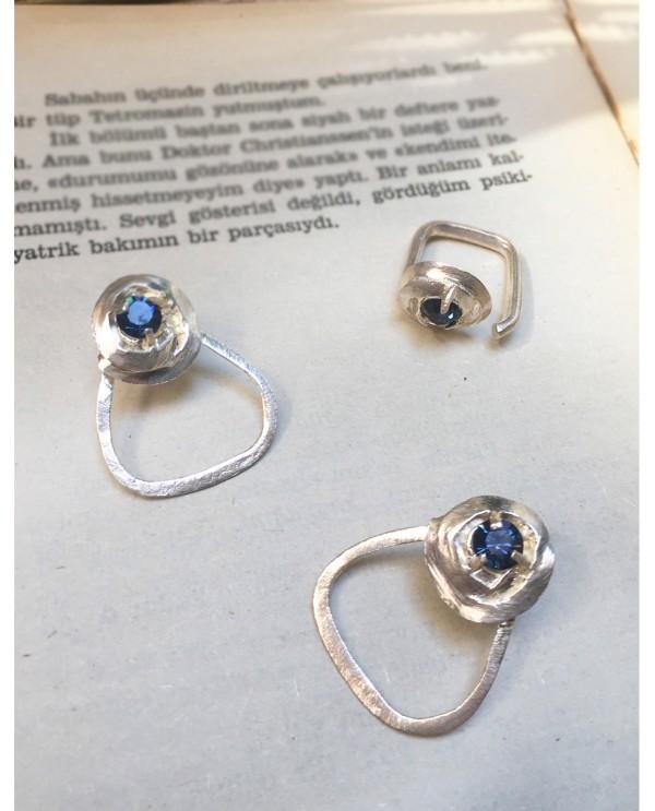 Swarovski Rose Ring-Silver