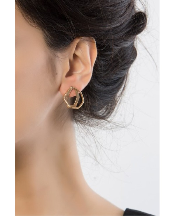 Babil Hexagon Earrings