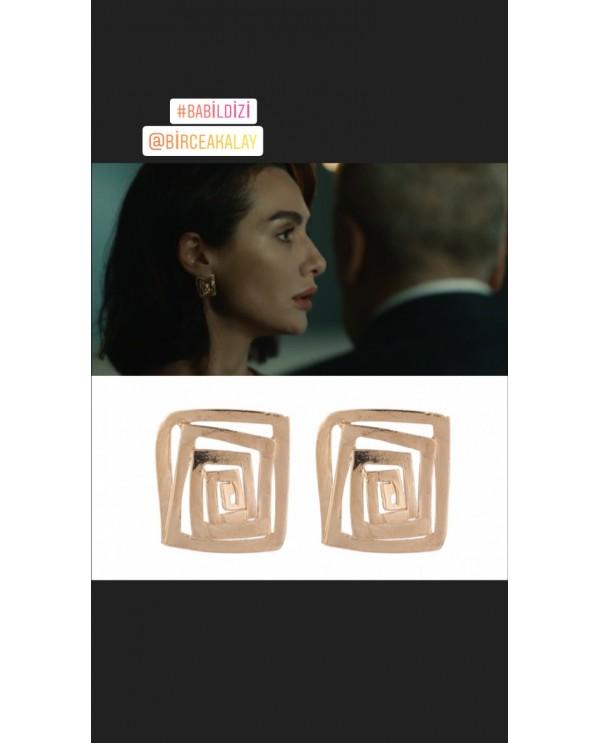 Babil Square Earrings