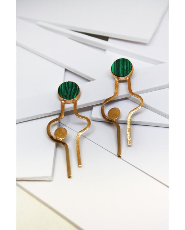 Art Nouveau Man Earrings