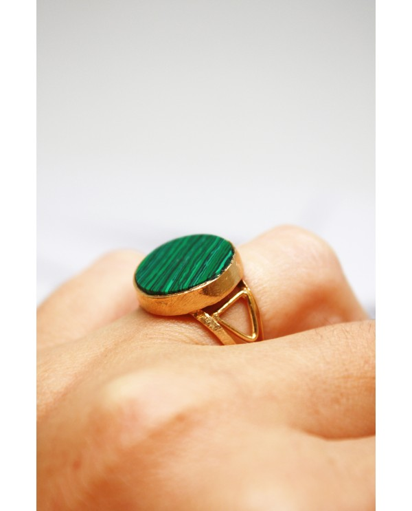 Man Malachite Ring