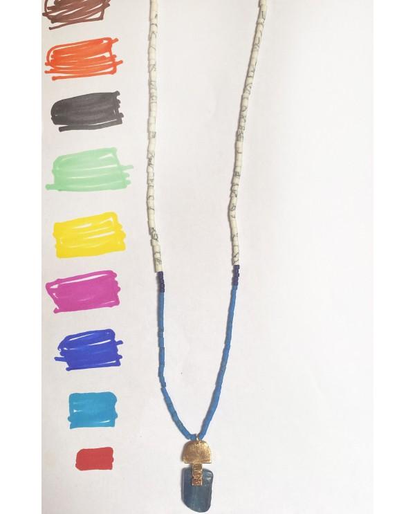 Grec Kyanite Beaded Necklace