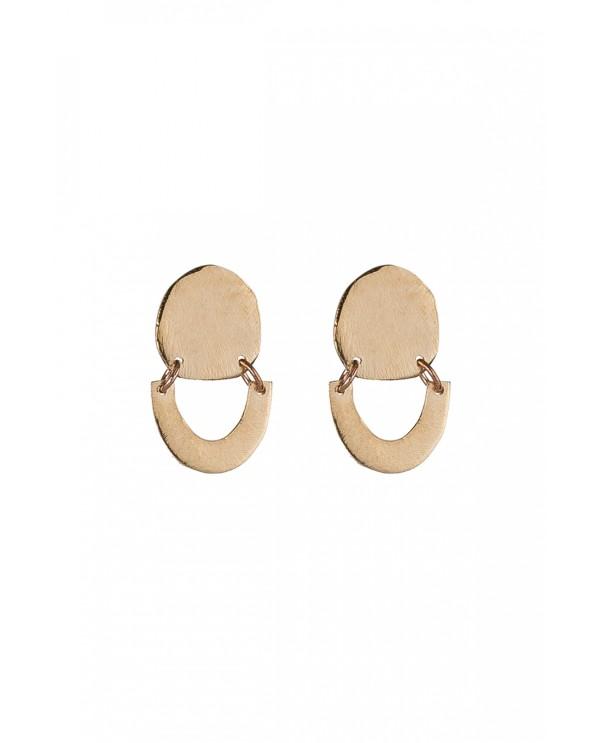 Tinny Phrygia Circle Earrings