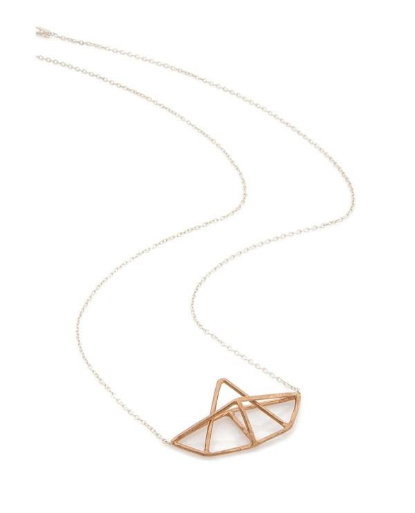 Origami Bateau Necklace