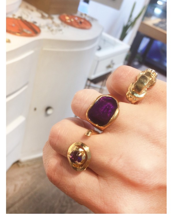 Hattuşa Ring Purple Enamel