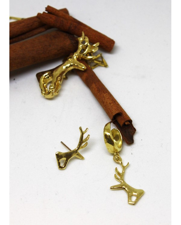 Hittite Hoop Deer Earrings