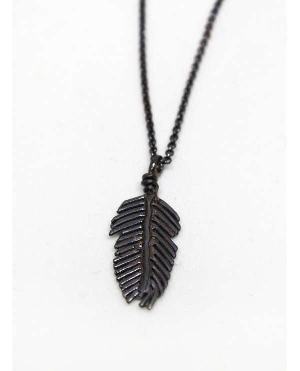 Feather Black Necklace