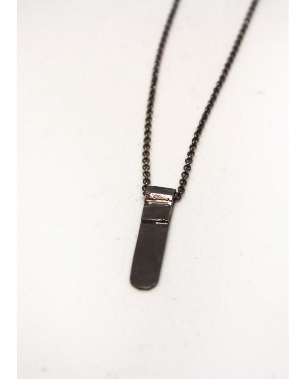 Long Stick Black Necklace