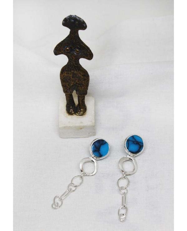 Alacahöyük Big Chain Earring