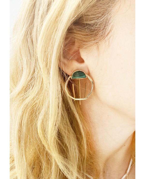 Hittite Sun Small Half Earring