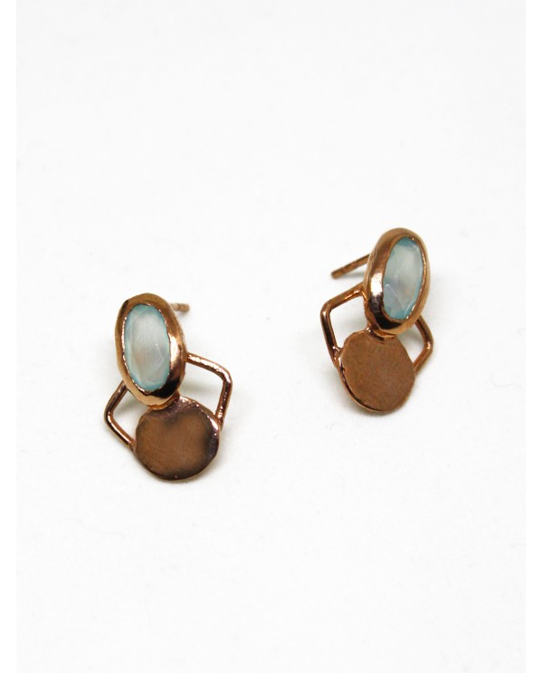 Chalcedony Butterfly Gold Earrings