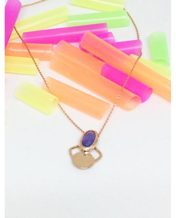 Tanzanite Butterfly Gold Necklace-Jellybon