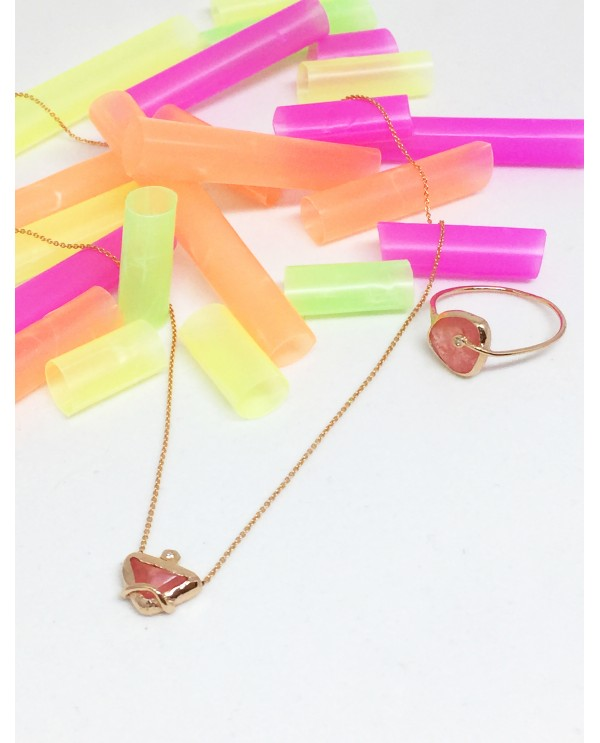 Jellybone Triangle Gold Necklace