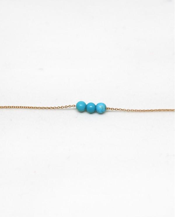 Triple Tourquoise Gold Bracelet