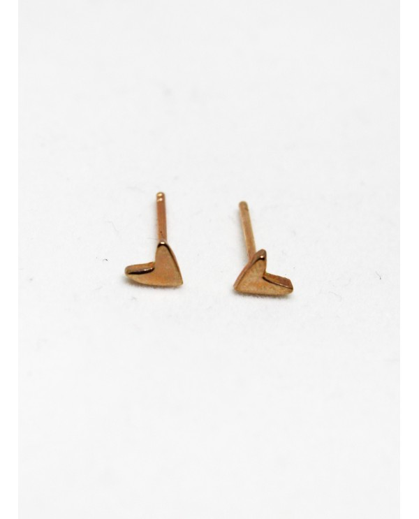 Tinny Heart Gold Earrings