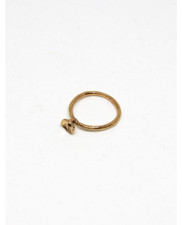 Bowl Black Diamond Ring