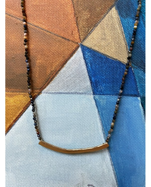 Plated Curv Necklace-Trapez Necklace