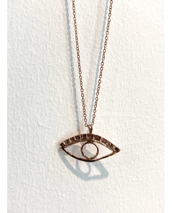 Cleopatra Eye Gold Plated Necklace