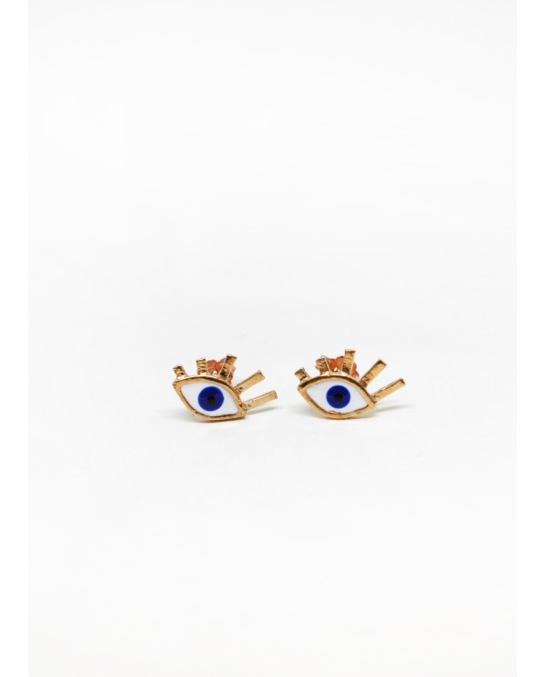 Small evil eye earring