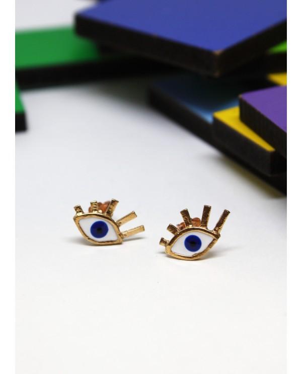 Small evil eye earring
