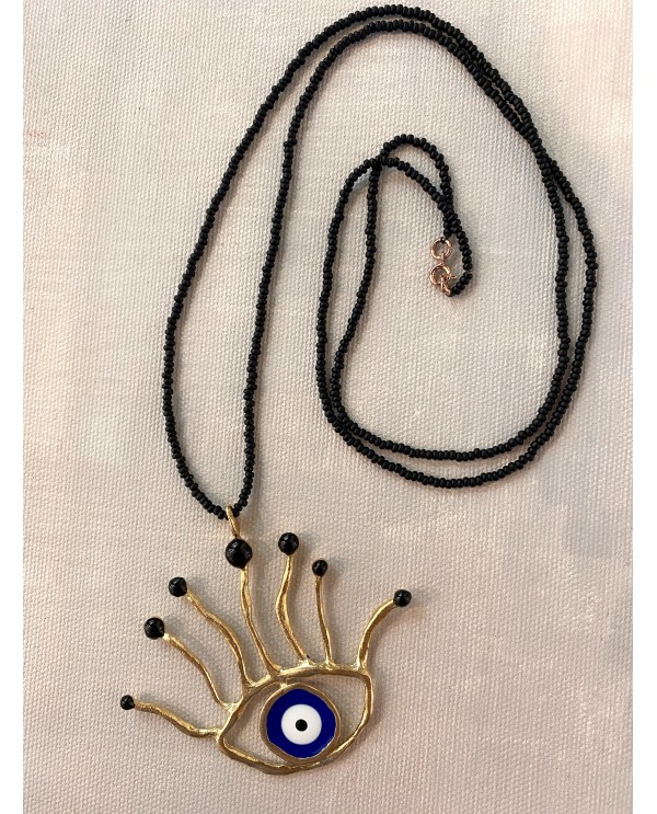 Pointed Evil Eye Necklace